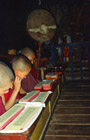 Monks at Phyang Monastery