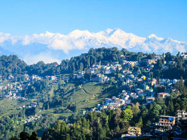 Moutains from Darjeeling