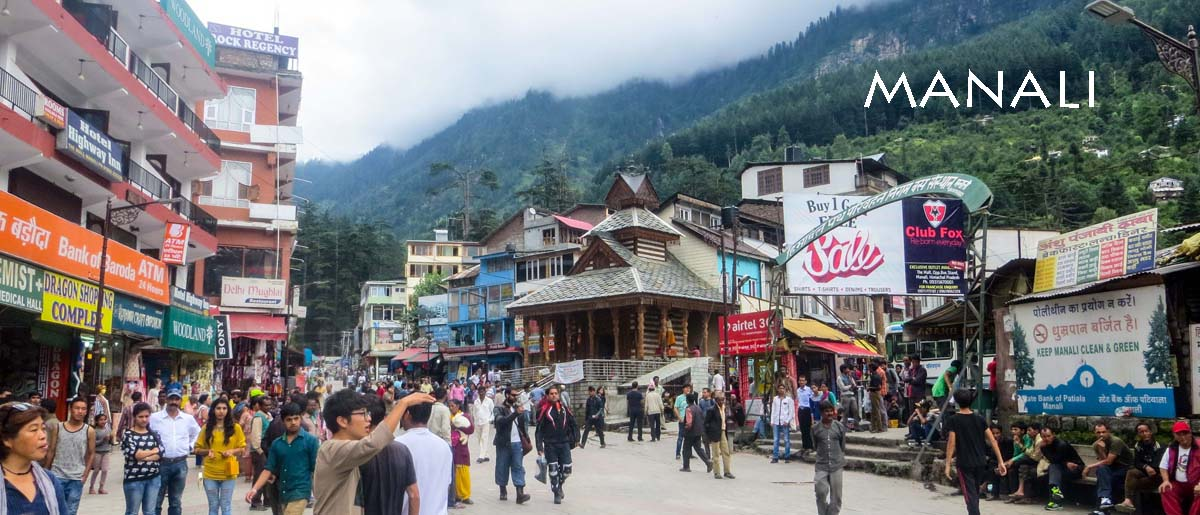 Main Street in Manali