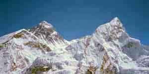 Mt Everest and Nuptse